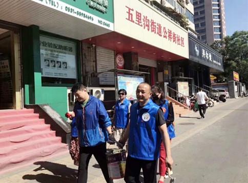山东:济南市皮肤病防治院党员在行动 进社区助力国卫复审